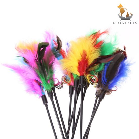 Nuts4Pets Feather Wand Cat Teaser Toy