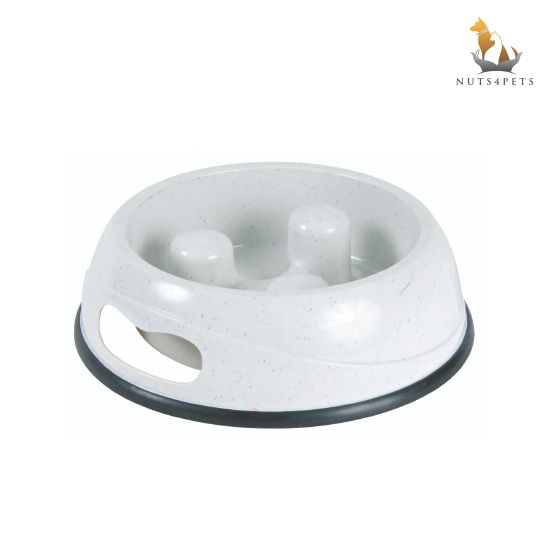 Trixie Slow Feed Bowl for Dogs, Anti Slip
