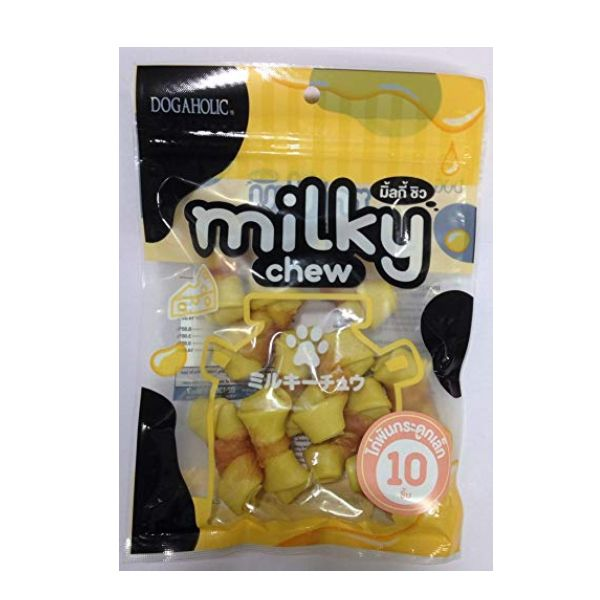 Milky Chew Cheese & Chicken Bones, 10 pieces