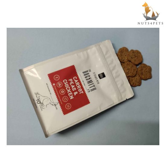 Dogsmith & Co. Chicken, Carrot and Peas Dog Biscuits, 280 gms