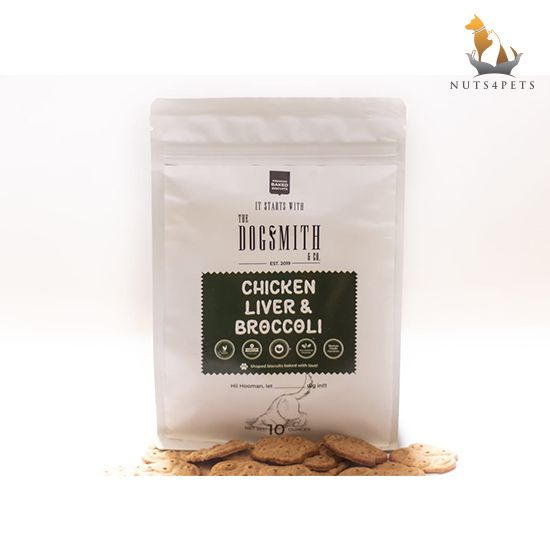 Dogsmith & Co. Chicken Liver and Broccoli Dog Biscuits, 280 gms