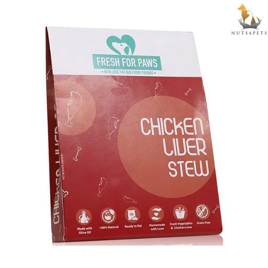 Fresh For Paws Fresh Dog Food (Chicken Liver Stew) (300 gms) (Pack Of 3)