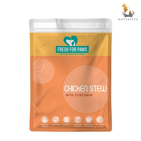 Fresh For Paws Fresh Dog Food (Chicken Stew with Curcumin ) (100 gms) (Pack of 12)