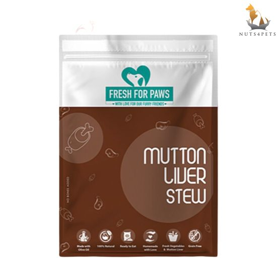 Fresh For Paws Fresh Dog Food (Mutton Liver Stew) (100 gms) (Pack of 12)