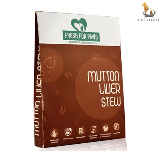 Fresh For Paws Dog Food (Mutton Liver Stew) (300 gms) (Pack Of 3)