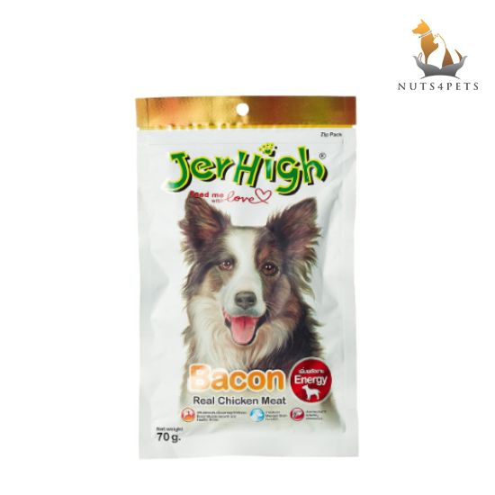 JerHigh Bacon Dog Treats, 70 g