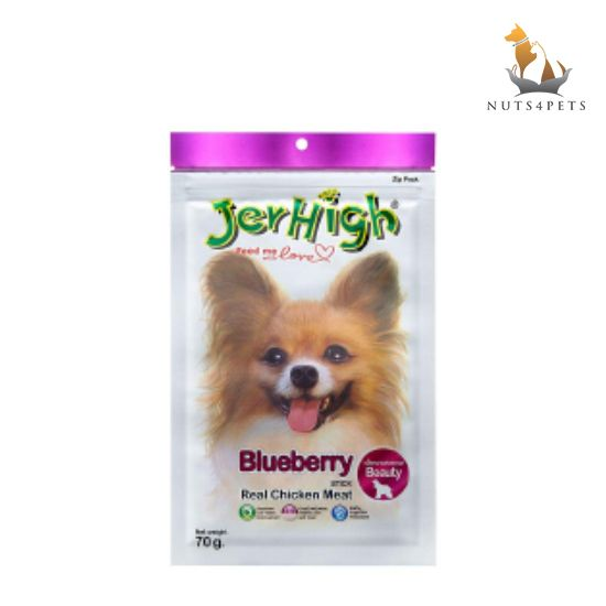 JerHigh Blueberry Stick Dog Treats, 70 g
