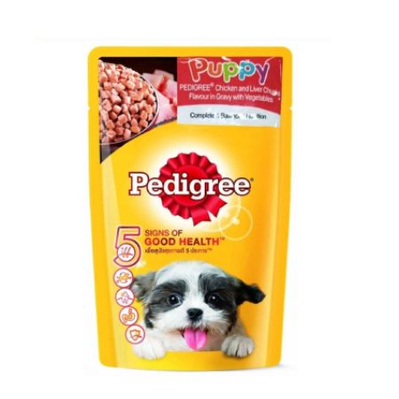Pedigree Chicken & Liver Chunks Wet Puppy Food
