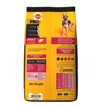 Pedigree Pro Dog Food for Active Adult Dogs