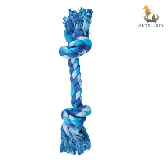 Nuts4Pets 2-Knot Rope Bone Dog Toy